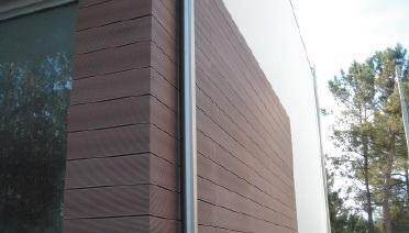 tarima exterior fachada